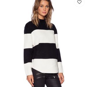 UNIF Bobbie Sweater Black & White Stripe XS